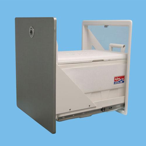 geladeira para barco / de embutir / com gavetas