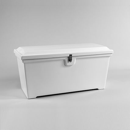 caixa organizadora em fibra de vidro / para píer