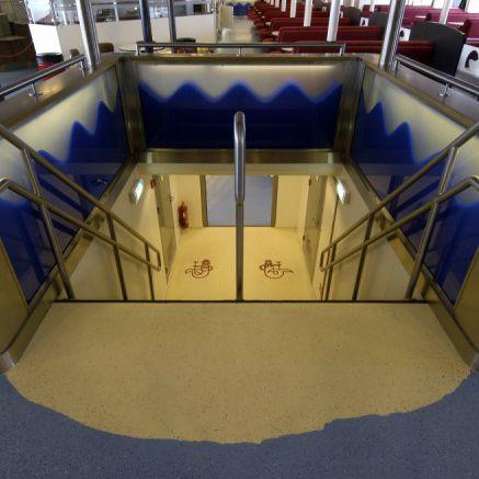 revestimento de piso para navio