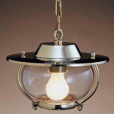 plafon para ambiente interno / para navio / para lâmpada incandescente / em latão