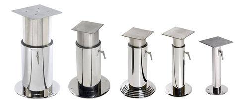 pé de mesa ajustável / em aço inox
