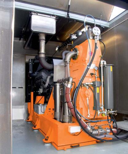 lavadora de alta pressão para estaleiro naval / para navio / em contêiner / a diesel
