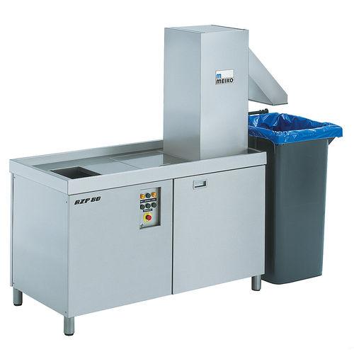 sistema de tratamento de resíduos alimentares / para navio