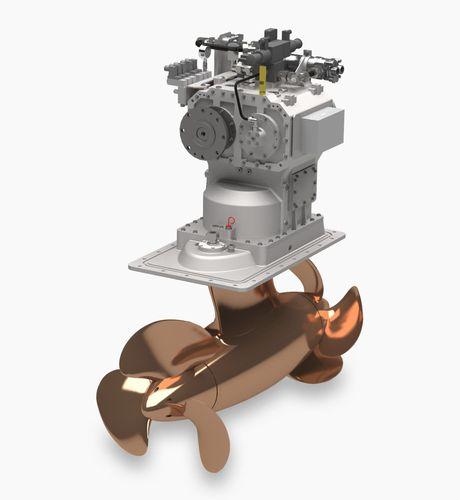 propulsor POD para navio / com hélices contrarrotativas / fixo