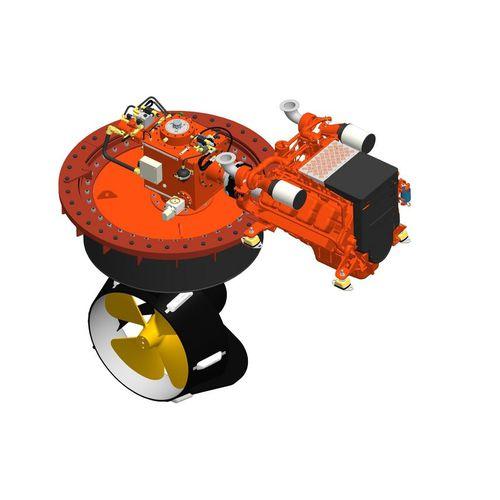 propulsor azimutal / para navio / hidráulico / Z-drive