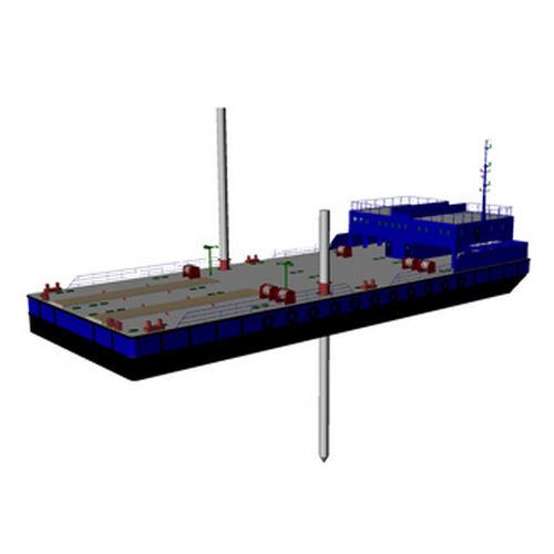 navio especial barcaça-guindaste