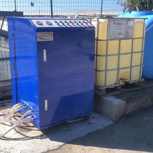 sistema de tratamento de águas residuais / para estaleiro naval / químico