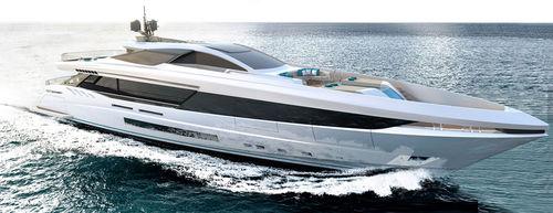 super-iate de cruzeiro / com hard-top / em alumínio / 5 cabines