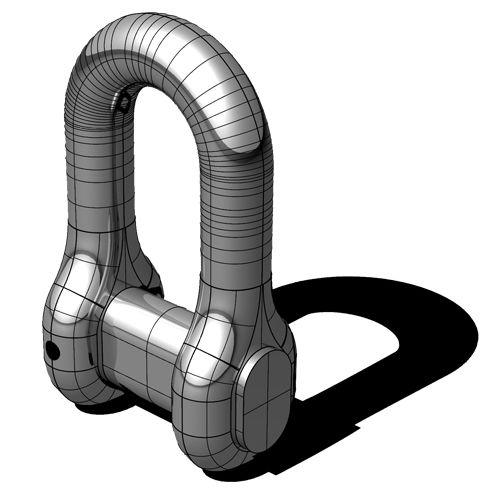 manilha para navio reta / de união para corrente de âncora / forjada / em inox