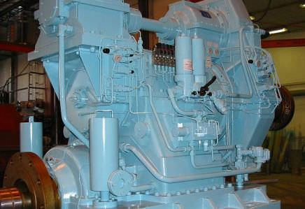sistema de propulsão para navio / a hélice de passo controlável
