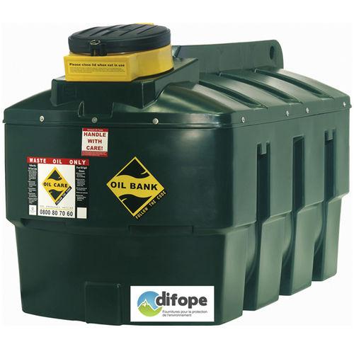 tanque para óleo usado / de armazenamento temporário / para estaleiro naval / portátil