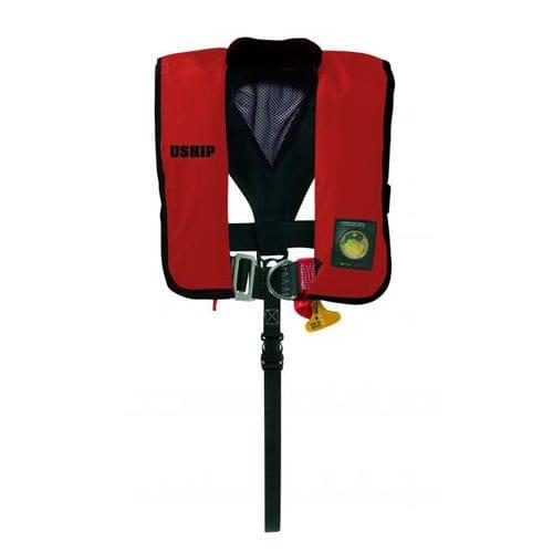 colete salva-vidas autoinflável / 180 N / com arnês de segurança