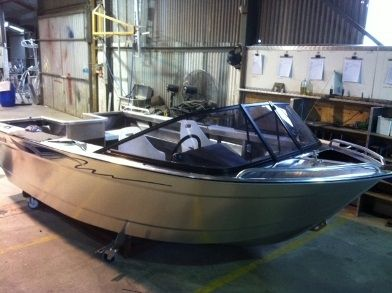 bay boat com motor de popa / com console dupla / de pesca esportiva