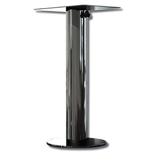pé de mesa em aço inox
