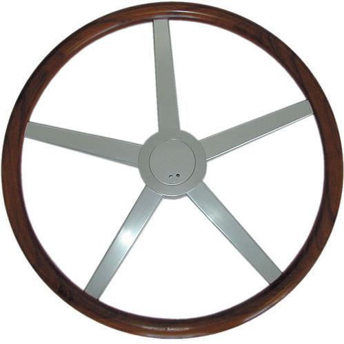 volante para barco a motor em teca / clássico