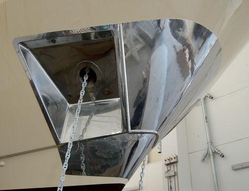 placa de proteção de proa de barco (em aço inoxidável)