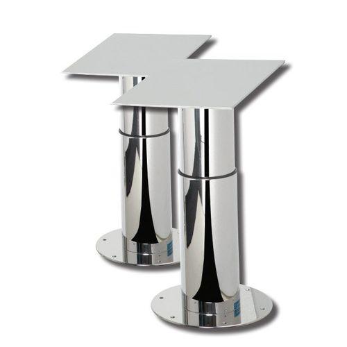 pé de mesa elétrico / telescópico / em alumínio / em aço inox