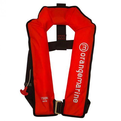 colete salva-vidas autoinflável / 150 N / com arnês de segurança