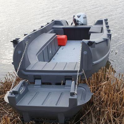 barco profissional barco de trabalho / barco salva-vidas / com motor de popa / em polietileno rotomoldado