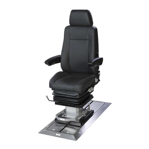 assento de piloto / de operador / para navio / com braços