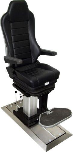 assento de piloto / de operador / para navio / ajustável