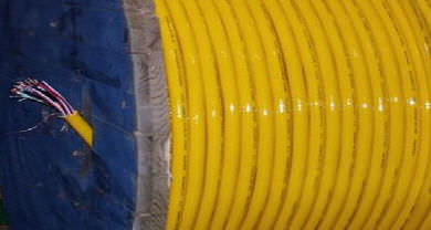 cabo subaquático / elétrico / marítimo