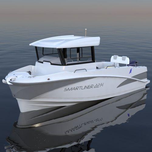 barco de pesca-passeio com motor de popa