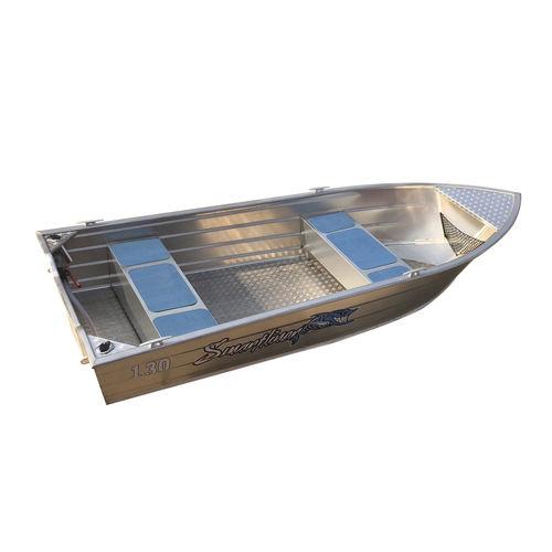 bote em alumínio / com motor de popa / open / com console central