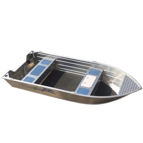 bote em alumínio / com motor de popa / open / com console lateral