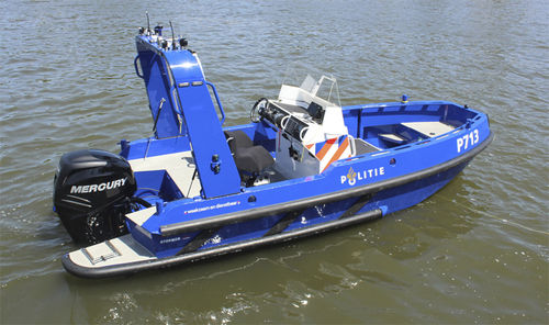barco profissional barco de busca e salvamento / com motor de popa / rebocável
