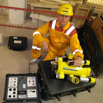ROV para inspeção de tubulações