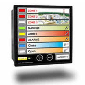 painel indicador para navio / para iate / de alarme / para sistema