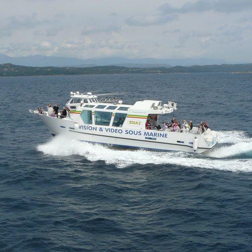 barco de passeio / a diesel / com motor de centro