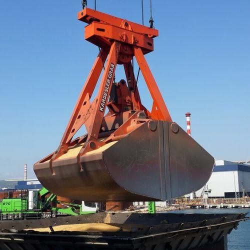 garra de descarregamento para navio graneleiro