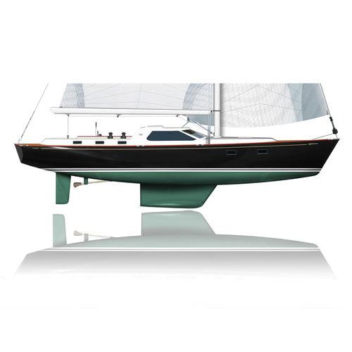 monocasco / de cruzeiro / com deck saloon / 2 ou 3 cabines