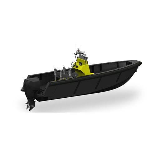 barco-patrulha / com motor de popa / em HDPE