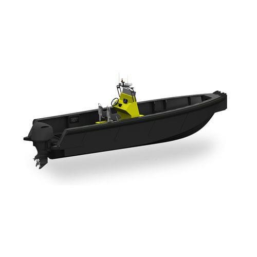 barco profissional barco-patrulha / com motor de popa / em HDPE