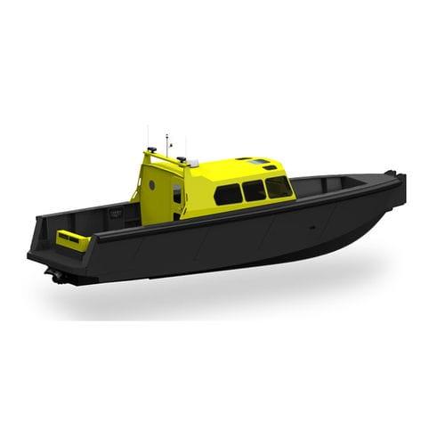 barco profissional barco para transporte de tripulação / barco para transporte de pilotos / com motor de centro hidrojato / a diesel