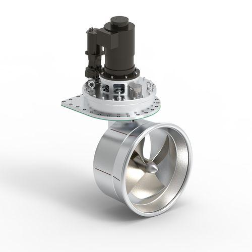 propulsor azimutal / para navio / elétrico / hidráulico