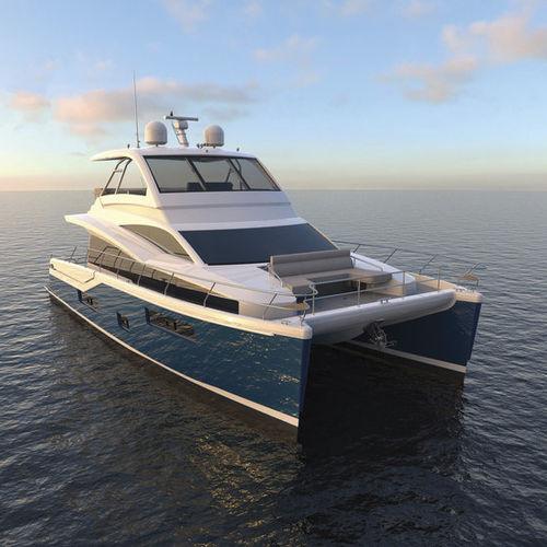 iate a motor catamarã / de cruzeiro / com flybridge
