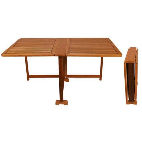 mesa para barco / para iate / dobrável / em teca