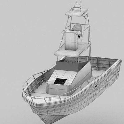 barco de pesca profissional / a diesel / em alumínio