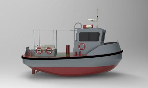 barco profissional minirrebocador