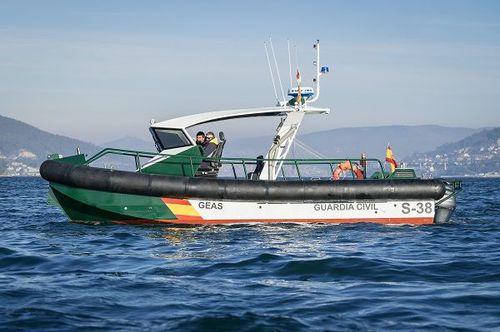 barco profissional barco-patrulha / com motor de popa / em alumínio / bote