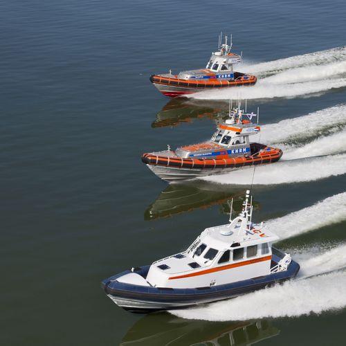 barco profissional barco salva-vidas / com motor de centro hidrojato / auto-inflável / barco inflável semirrígido