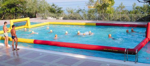 equipamento de diversão aquática quadra de vôlei / inflável