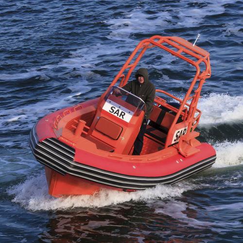 barco de busca e salvamento / em alumínio