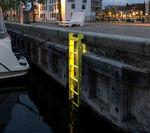 escada para porto / para marina / fixa / de segurança