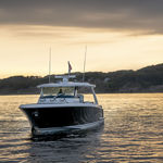 lancha Express Cruiser com motor de popa / a diesel / trimotor / com hard-top