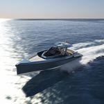 lancha Express Cruiser com motor de centro / bimotor / open / com console central